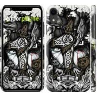 Чехол для iPhone XR Тату Викинг 4098c-1560