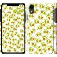 Чехол для iPhone XR Весёлые авокадо 4799c-1560