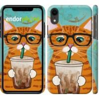 Чехол для iPhone XR Зеленоглазый кот в очках 4054c-1560