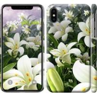 Чехол для iPhone XS Белые лилии 2686m-1583