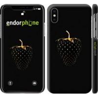 Чехол для iPhone XS Черная клубника 3585m-1583