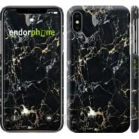 Чехол для iPhone XS Черный мрамор 3846m-1583