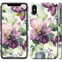 Чехол для iPhone XS Цветы акварелью 2237m-1583