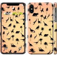 Чехол для iPhone XS Динозаврики 1 4772m-1583