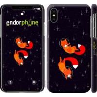 Чехол для iPhone XS Лисички в космосе 4519m-1583
