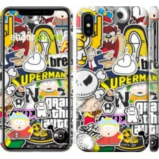 Чехол для iPhone XS Popular logos 4023m-1583