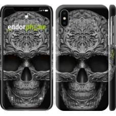 Чехол для iPhone XS skull-ornament 4101m-1583
