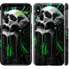 Чехол для iPhone XS Max Череп-часы 4100m-1557