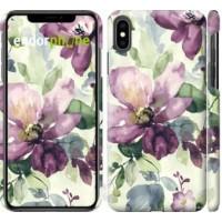 Чехол для iPhone XS Max Цветы акварелью 2237m-1557