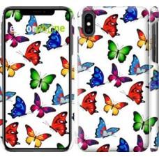 Чехол для iPhone XS Max Красочные мотыльки 4761m-1557