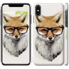 Чехол для iPhone XS Max Лис в очках 2707m-1557