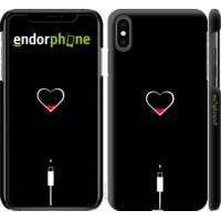 Чехол для iPhone XS Max Подзарядка сердца 4274m-1557