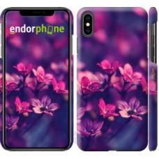 Чехол для iPhone XS Max Пурпурные цветы 2719m-1557