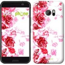 Чехол для HTC 10 Нарисованные розы 724m-464