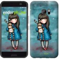 Чехол для HTC 10 Девочка с зайчиком 915m-464