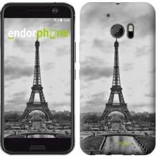 Чехол для HTC 10 Чёрно-белая Эйфелева башня 842m-464