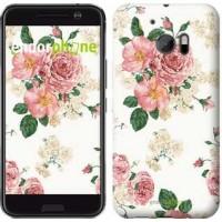Чехол для HTC 10 цветочные обои v1 2293m-464