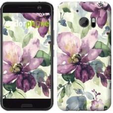 Чехол для HTC 10 Цветы акварелью 2237m-464