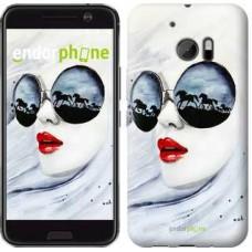 Чехол для HTC 10 Девушка акварелью 2829m-464