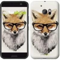 Чехол для HTC 10 Лис в очках 2707m-464