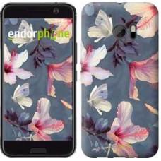 Чехол для HTC 10 Нарисованные цветы 2714m-464