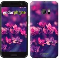 Чехол для HTC 10 Пурпурные цветы 2719m-464