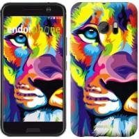 Чехол для HTC 10 Разноцветный лев 2713m-464
