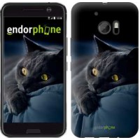 Чехол для HTC 10 Дымчатый кот 825m-464