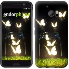 Чехол для HTC 10 Светящиеся бабочки 2983m-464