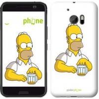 Чехол для HTC 10 Задумчивый Гомер. Симпсоны 1234m-464
