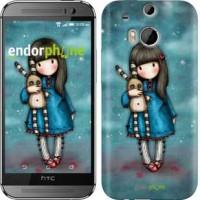 Чехол для HTC One M8 Девочка с зайчиком 915c-30