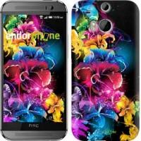 Чехол для HTC One M8 Абстрактные цветы 511c-30