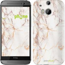 Чехол для HTC One M8 Белый мрамор 3847c-30