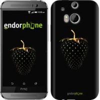 Чехол для HTC One M8 Черная клубника 3585c-30