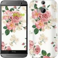 Чехол для HTC One M8 цветочные обои v1 2293c-30