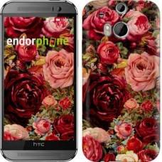 Чехол для HTC One M8 Цветущие розы 2701c-30