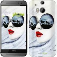 Чехол для HTC One M8 Девушка акварелью 2829c-30