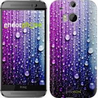 Чехол для HTC One M8 Капли воды 3351c-30