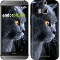 Чехол для HTC One M8 Красивый кот 3038c-30