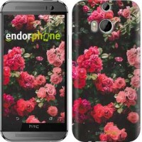 Чехол для HTC One M8 Куст с розами 2729c-30