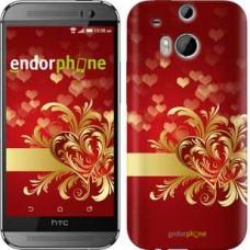 Чехол для HTC One M8 Ажурные сердца 734c-30