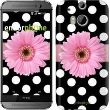 Чехол для HTC One M8 Горошек 2 2147c-30