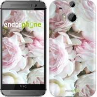Чехол для HTC One M8 Пионы v2 2706c-30