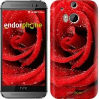 Чехол для HTC One M8 Красная роза 529c-30