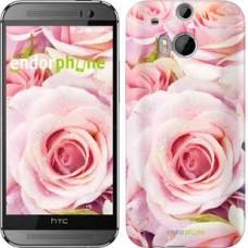 Чехол для HTC One M8 Розы 525c-30