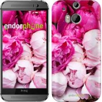 Чехол для HTC One M8 Розовые пионы 2747c-30