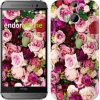 Чехол для HTC One M8 Розы и пионы 2875c-30
