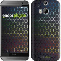 Чехол для HTC One M8 Переливающиеся соты 498c-30