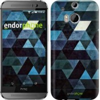 Чехол для HTC One M8 Треугольники 2859c-30
