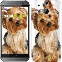 Чехол для HTC One M8 Йоркширский терьер с хвостиком 930c-30
